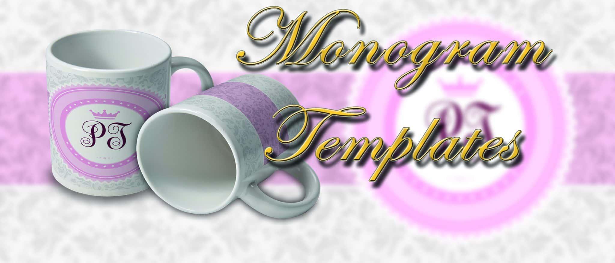 Monogram Mug templates