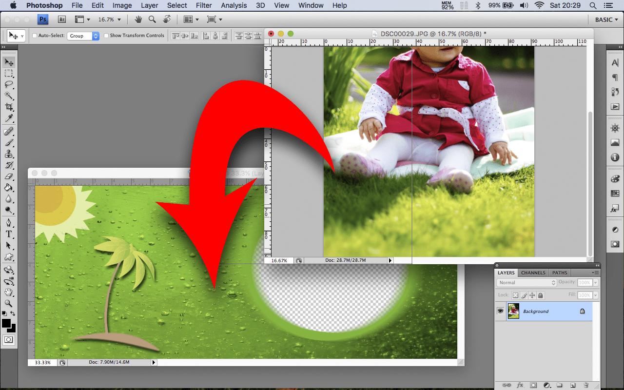 Mug template – how to insert photo Photoshop