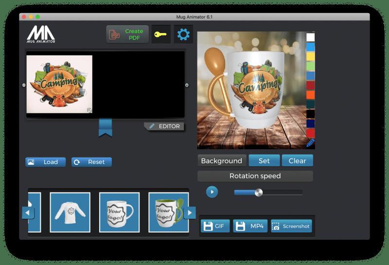Mug Animator v.6.1 – 3d mockup designer software