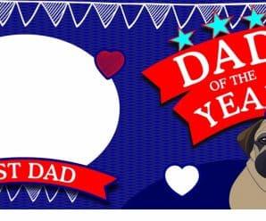 Free Fathers day mug template